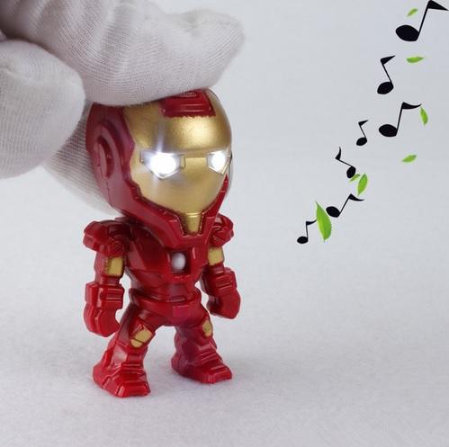 Iron Man Mini Figure Keychain 2.4 Inches