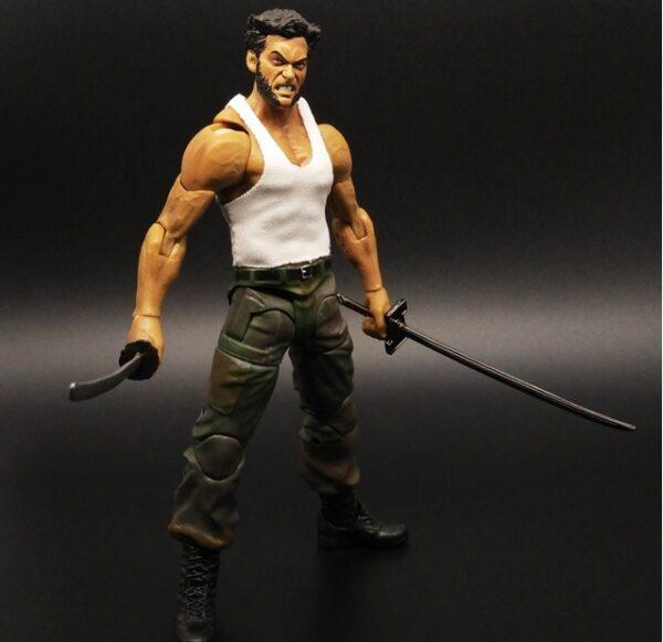 Wolverine Action Figure Marvel Legends Select Logan Tank Top Suite X Men 5