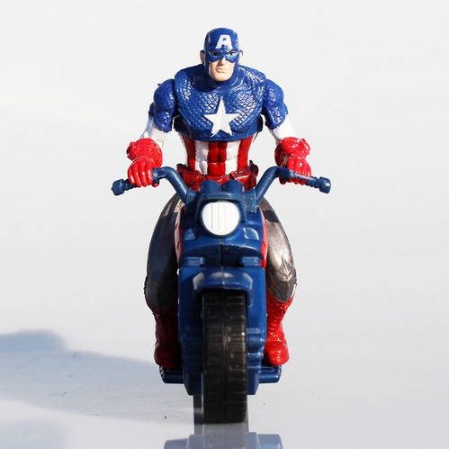 Captain America Marvel Motorcycle Action Figure 4 Inches