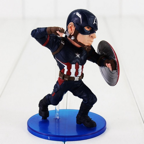Captain America Painted Action Figure Statue Avengers Civil War 5 Inches