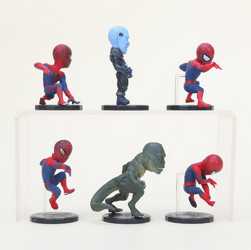The Amazing Spider Man Mini Action Figures Statues The Lizard Electro 3 inches 9