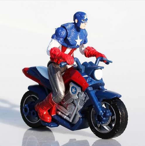 Captain America Marvel Motorcycle Action Figure 4 Inches 2