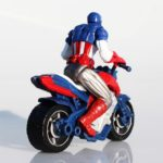 Captain America Marvel Motorcycle Action Figure 4 Inches 3