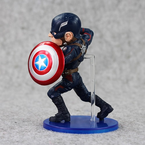 Captain America Painted Action Figure Statue Avengers Civil War 5 Inches 2