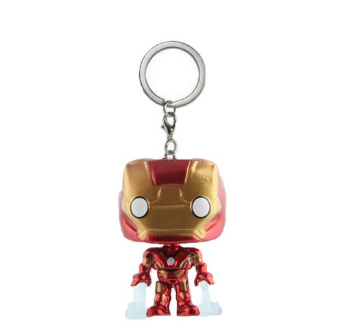 Iron Man Mini Figure Keychain Avengers Version 2.4 Inches