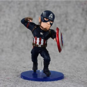 Captain America Painted Action Figure Statue Avengers Civil War 5 Inches 3