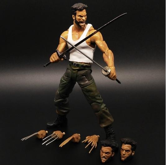 Wolverine Action Figure Marvel Legends Select Logan Tank Top Suite X Men 1