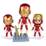 Super Heroes The Avengers Q Iron Man 3pcs/set High Quality PVC Action Figure Toys Dolls 3