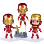 Super Heroes The Avengers Q Iron Man 3pcs/set High Quality PVC Action Figure Toys Dolls