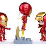 Super Heroes The Avengers Q Iron Man 3pcs/set High Quality PVC Action Figure Toys Dolls 1