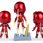 Super Heroes The Avengers Q Iron Man 3pcs/set High Quality PVC Action Figure Toys Dolls 2