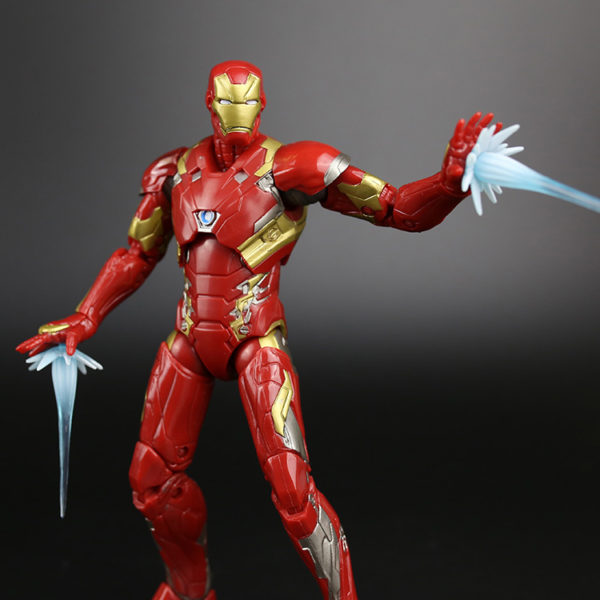 "New 6"" Avenger Iron man & Captain america War PVC Joints Doll Figure Painted Toy Collectible Model Figurine Gift Hot Sale 3"