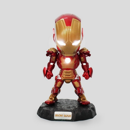 Iron man mini statues with light ace 4 inches marvtoys - Mini iron man ...