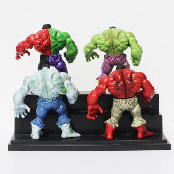Hulk Action Figure Set 4 pcs Green, Red, Gray and Compound 3