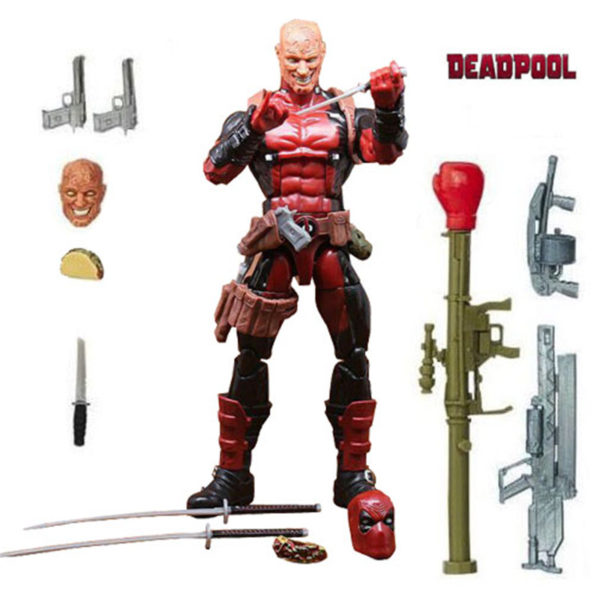 Deadpool Action Figure Chimichanga Marvel Legends X Men Juggernaut Series 6 Inches 3