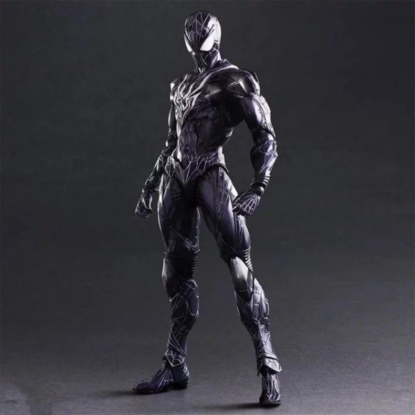 Spider Man Action Figure Comics Series Art's Symbiote Black Suit 10 Inches 3