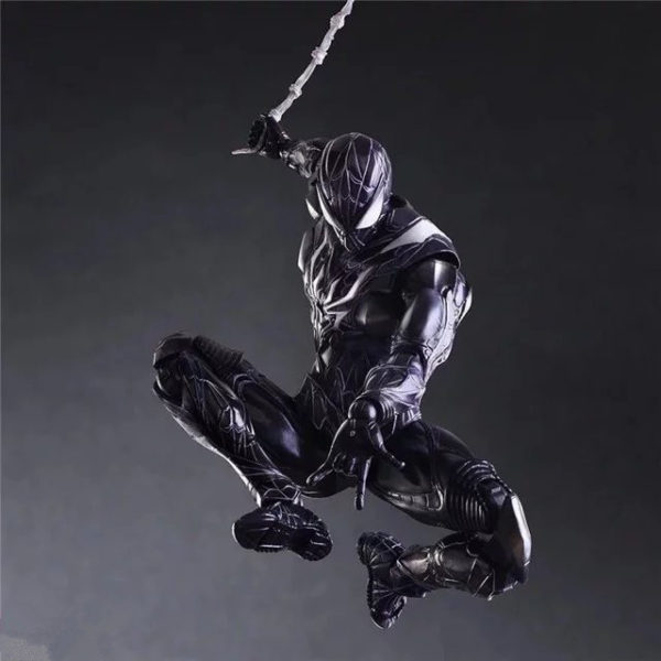 Spider Man Action Figure Comics Series Art's Symbiote Black Suit 10 Inches 5