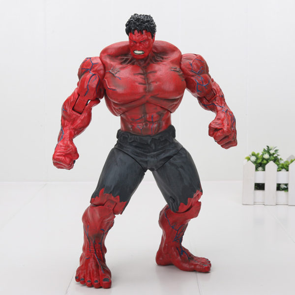 Red and Green Hulk Action Figure Collectible Comicon 10 Inch 4