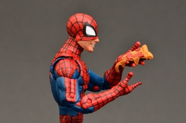 Spider Man Action Figure Marvel Legends Infinite Series with Pizza 6 Inches156
