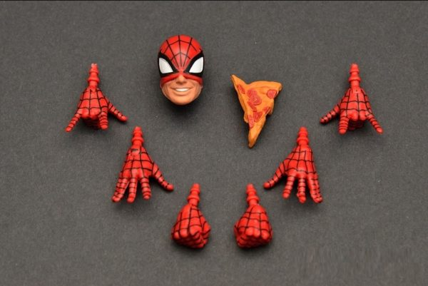 Spider Man Action Figure Marvel Legends Infinite Series with Pizza 6 Inches6