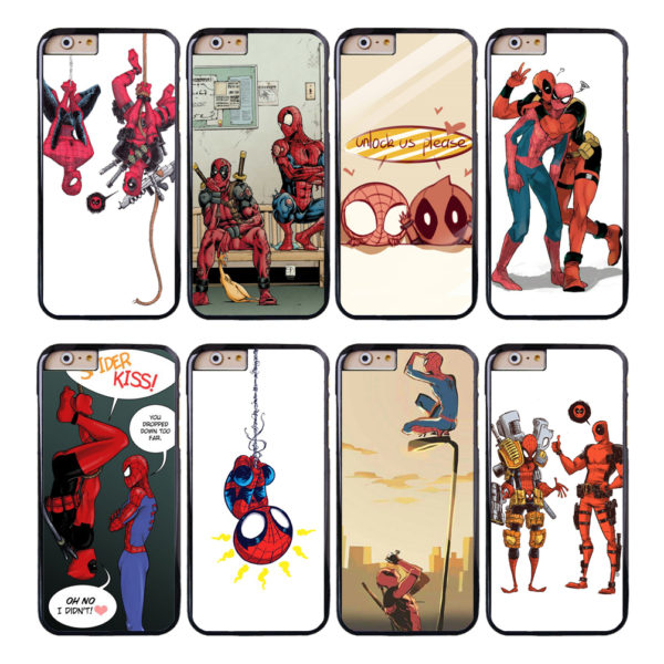 Deadpool and Spiderman Funny Images Phone Case for iPhone and iPod Touch (8 Styles)