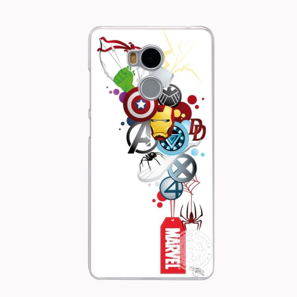 Marvel Heroes Phone Case for Xiaomi redmi 4 4A 1 1s 2 3 3s  pro redmi note 4 4X 3