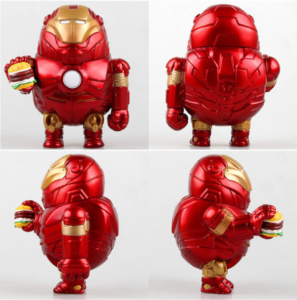 Iron Man Fat Figure Marvel Action Mark Series Avengers Funny New Toy9