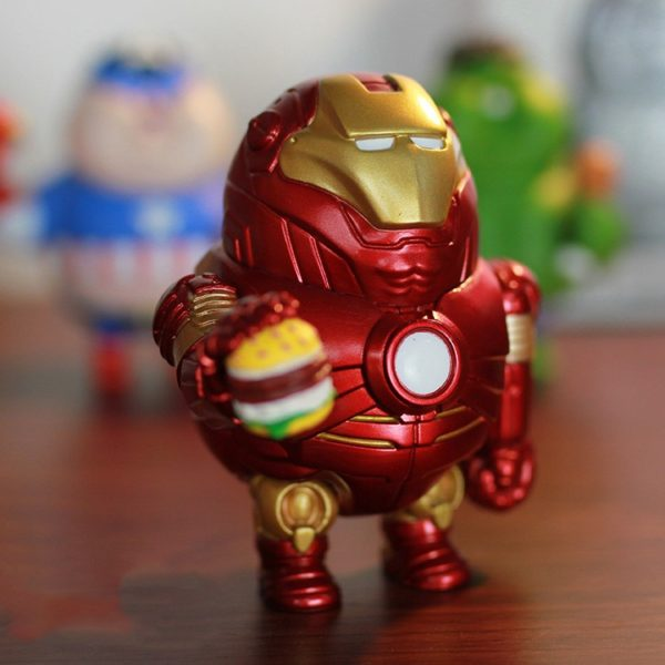 Iron Man Fat Figure Marvel Action Mark Series Avengers Funny New Toy6
