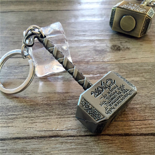 Thor Hammer Keychain (2 Colors) 5