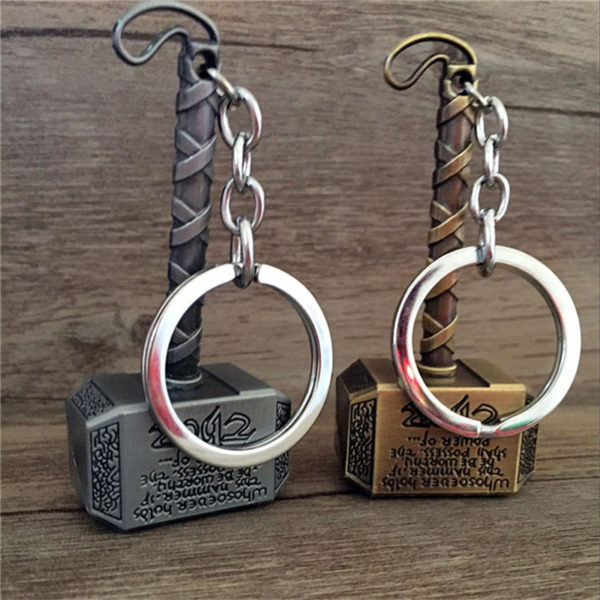 Thor Hammer Keychain (2 Colors) 4