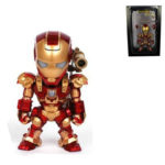 Iron Man Figure Tony Stark with LED Light and Voice Control 5 inch
