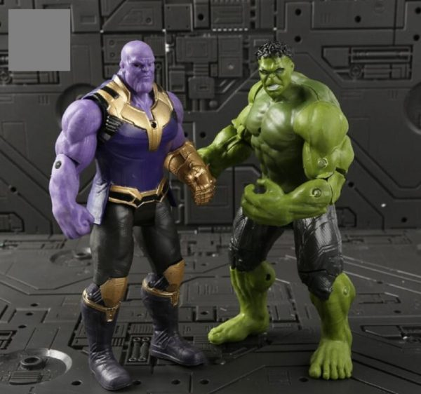 6pcs Avengers 3 Infinity War Thanos Iron Spiderman Captain Thor Hulk Figures Set