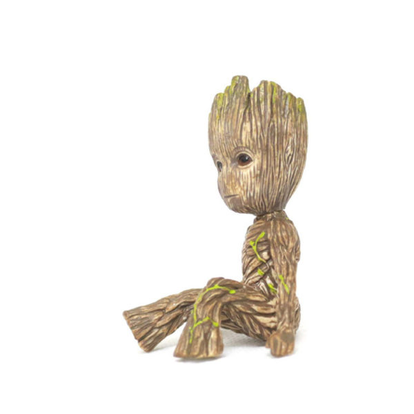 [Jkela] Baby Groots Tree Man Figure Toys Keychain Pendant Guardians of Galaxy Dancing Movie Figures Toys Pendants Necklace gift 2