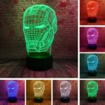 Iron Man Bulbing Night Lamp Multi Color Changing 3D LED Lights (9 Different Lamps)4
