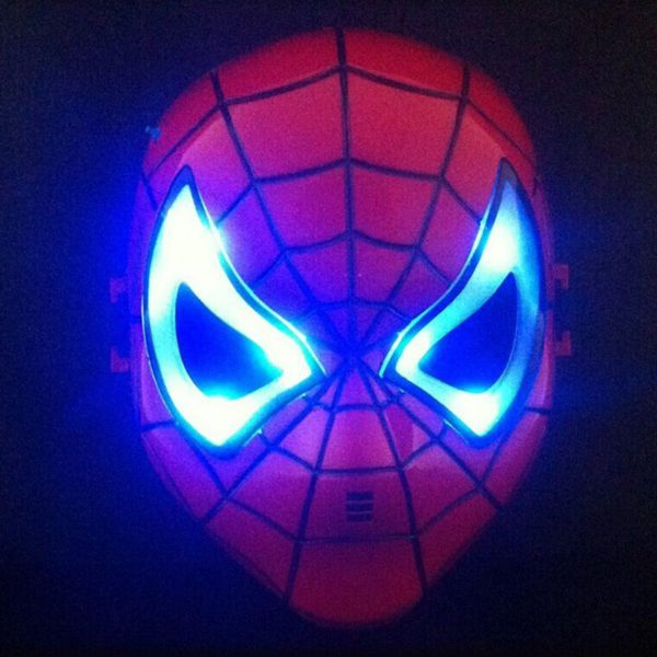 Spider Man Mask Eyes with LED Light for Kids Children