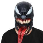 Classic Venom Latex Mask Black Symbiote Cosplay Edward Brock 1