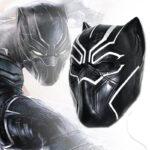 Black Panther Civil War 3D Latex Mask T'Challa 1