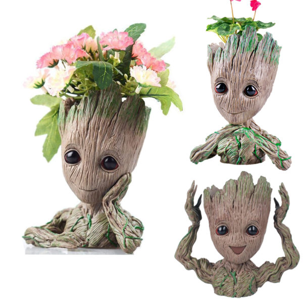 Kid Groot Figure Planter Pot Flowerpot Guardians Of The Galaxy