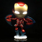 Iron Man Mark 50 Infinity War Collectible Figure Ver. 3 with Led Lights 5inch