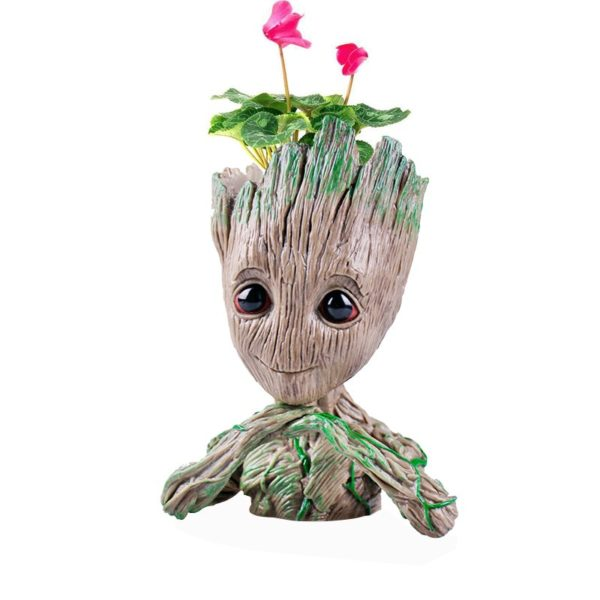 Kid Groot Figure Planter Pot Flowerpot Guardians Of The Galaxy 6