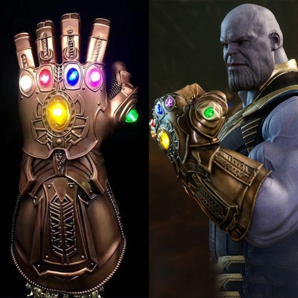 Thanos Infinity Gauntlet With Led Light Cosplay Avengers Infinity War Movie 13.5 inch