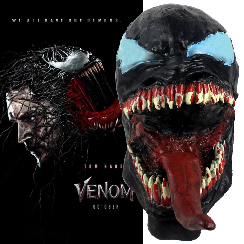 Venom Movie Mask Exclusive Cosplay 3D Mask For Adults