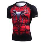 Iron Spider Man T Shirt Compression for Men 4