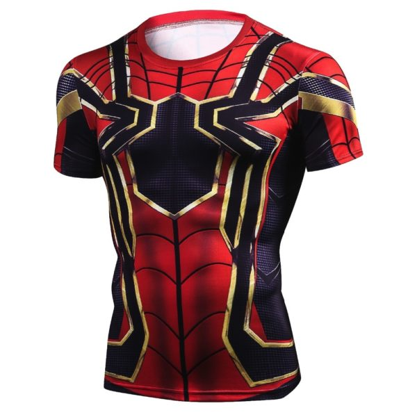 Iron Spider Man T Shirt Compression for Men (4 Colors)