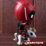 Deadpool with Unicorn Riding Style Collectible Figure 5inch. 3