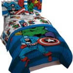 Avengers Comics 4 Piece Twin Bed Set