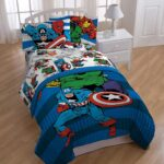Avengers Comics 4 Piece Twin Bed Set 7