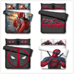 Deadpool Bed Set Covers and Pillowcases (8 Different Designs)