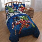 Marvel Avengers Blue Circle Bed Set Full Size 7