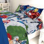 Marvel Avengers Blue Circle Bed Set Full Size 8